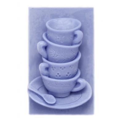 Molde pastilhas sabonetes chavenas de cafe