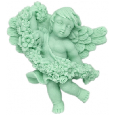 Molde para manualidades Angelito con Flores