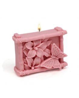 Molde para hacer velas Mariposa y Bambú