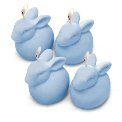 Molde de velinhas, 4 coelhinhos de páscoa.