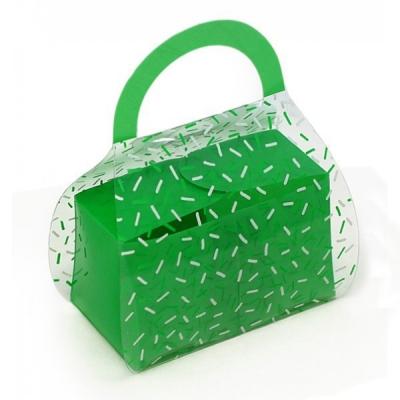 Cajita de regalo plastica Bolsito Verde