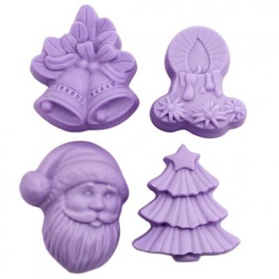 Molde para detalhes, 4 Figuras de Natal.