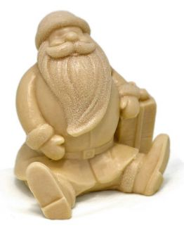 Molde papa noel sentado