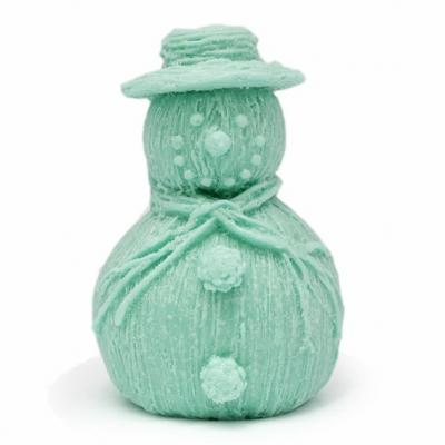 Molde para jabón, figura de muñeco de nieve.