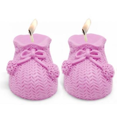 Molde para velas Patucos de Bebé