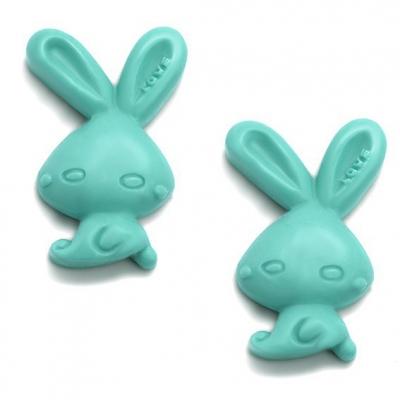 Molde de silicone, 2  Funny Rabbits