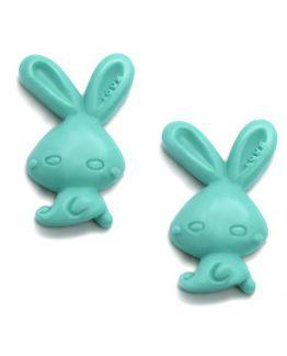 Molde de silicone 2 Funny Rabbits