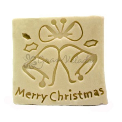 Carimbo de sabonetes natalinos, Merry Christmas