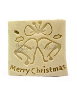 Sello de jabón navideño, Merry Christmas