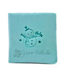 Sello de jabon navideño Muñeco de Nieve con pajarito