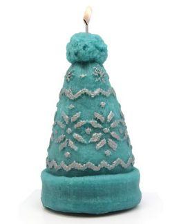 Molde gorro de lana grande para velas