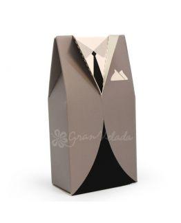 Cajita forma de Frac para envolver y decorar todo tipo de detalles de hombre