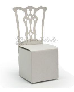 Caixa cadeira de convidado para brindes