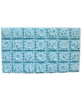 Molde abecedario para fazer sabonetes
