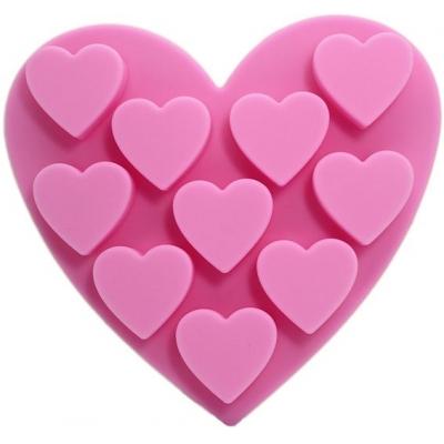 Molde figuras pequeñas 10 corazoncitos