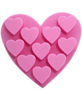 Molde 10 coraçãozinhos