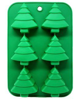 Molde Navidad 6 Abetos DIY