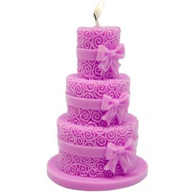 Molde bolo de casamento 3 andares para velas