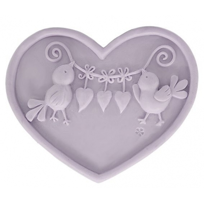 Molde de silicone, Coração com Passarinhos.