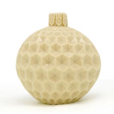 Molde para velas, Bola Natalina Textura Favo