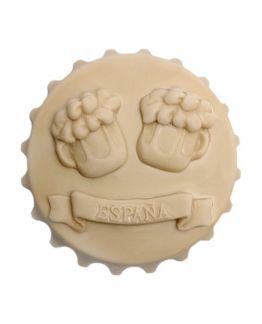 Molde recuerdo de España, brindis de cerveza.