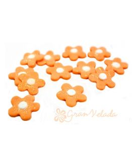Flores Naranjas para decorar bombas de baño