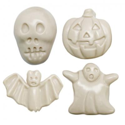 Molde Halloween 4 figuras terriveis em 2D