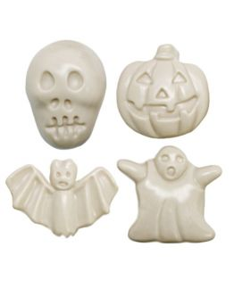 Molde Halloween, 4 figuras terroríficas 2D