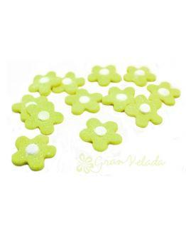 Flores para decorar bombas de banho, verde pistache