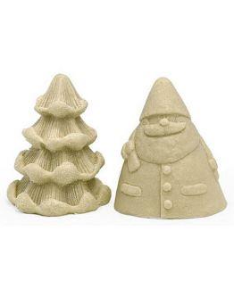 Molde para detalhe natal, Pai Natal e Árvore