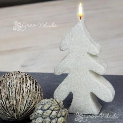 Molde para velas navidad, Pino Nevado