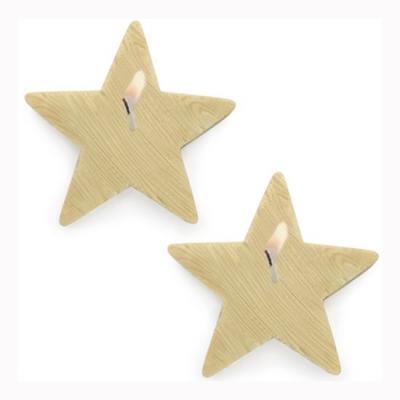 Molde para velas y jabones 2 Estrellas de Madera