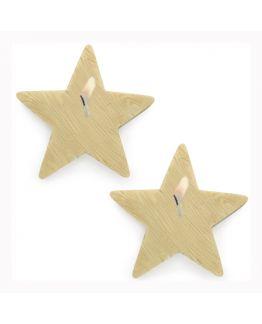 Molde para velas e sabonetes, 2 Estrelas de Madeira.