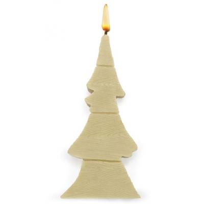 Molde para velas, Árvore Natalino Madeira 2D