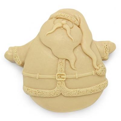 Molde para manualidades navidad, Santa Claus Volando