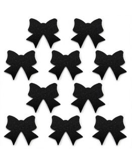 Pegatinas 10 Lazos Negros para decorar.