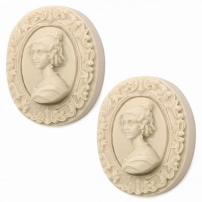 Molde para 2 pastilhas de sabão, Camafeu Vienense.