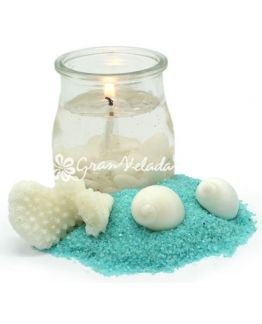 Bote yogur cristal para velas de gel