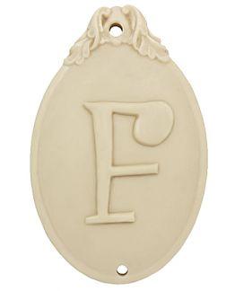 Molde Medallon Escayola, Inicial F.