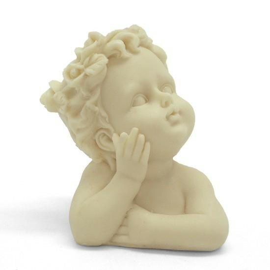 Molde para hacer jabón, angelito Busto nº 1.