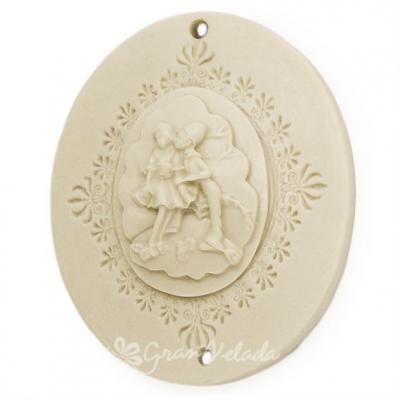 Molde figuras de escaiola, Medalha São Valentím