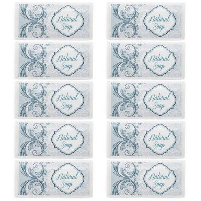Adesivos azuis sabonete natural