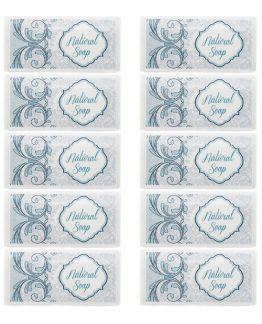 Pegatinas azules para jabon natural