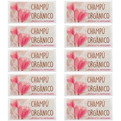 Adesivos para Packaging, Champô Orgânico