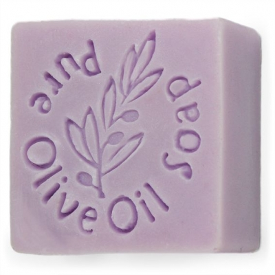 Carimbo para sabonetes, Pure Olive oil Soap.