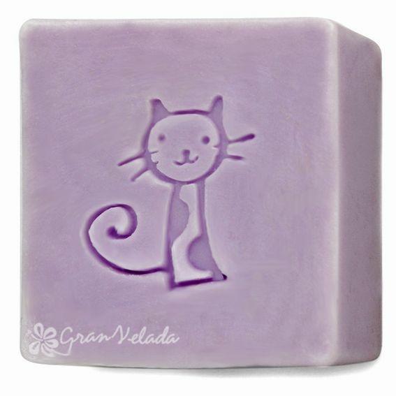 Sello para jabones gatito
