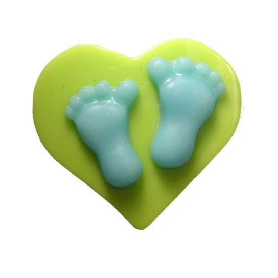 Molde para jabon corazon con pies