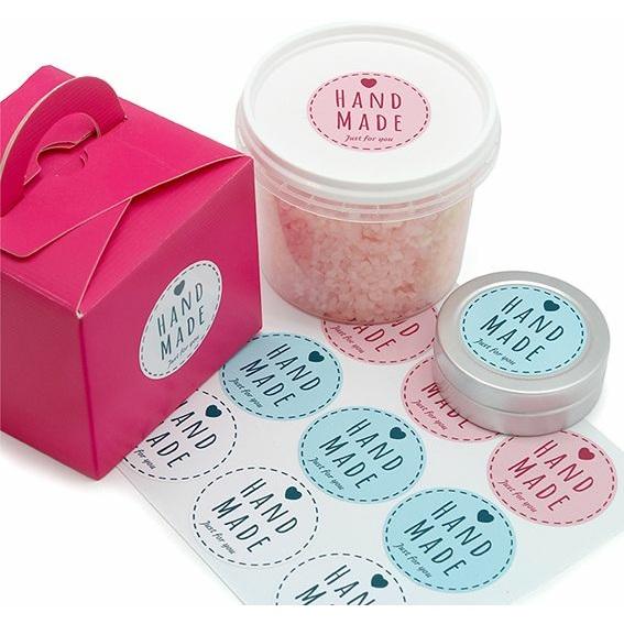 Stickers Redondos para potes de bálsamo labial, hand made casual.