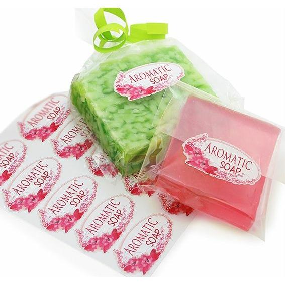 Adesivos Packaging Sabonete Flores Vermelhas