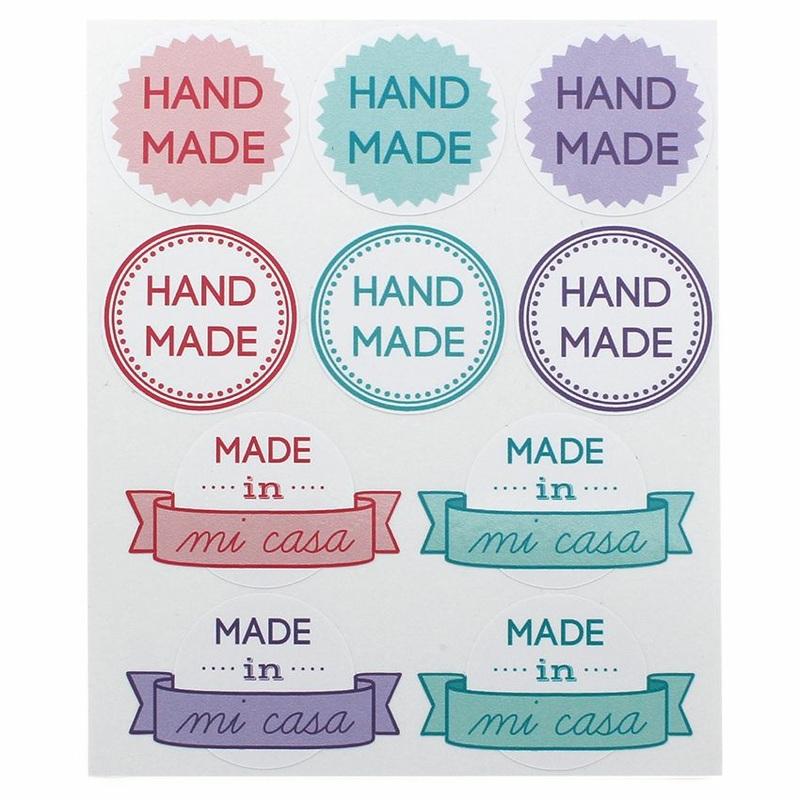 Etiquetas para Packaging Mix de Autocolantes Hand Made